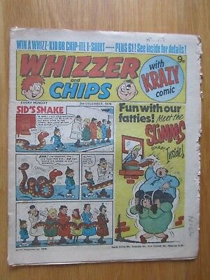 WHIZZER & CHIPS COMIC 9th December 1978. Novel 40th Birthday Present!