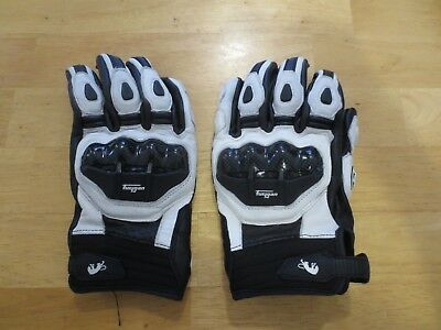 Furygan afs 6 Leather Vented Motorcycle Gloves Med Black / White