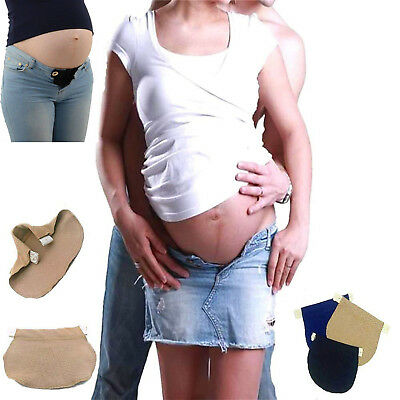 Maternity Pregnancy Waistband Belt Cotton Adjustable Elastic Waist Extender Pant