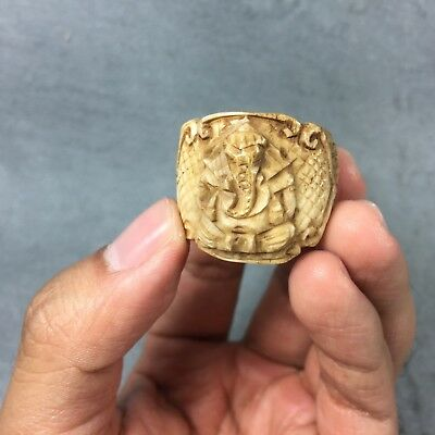 14 US Ring Carve Phra LP Derm Powerful Protect Talisman Thai Amulet Buddha old