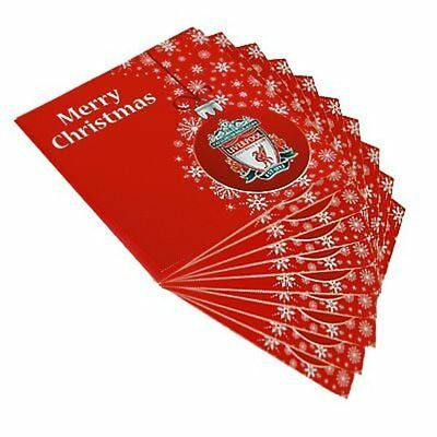 Official Liverpool Christmas Cards 10 Packs with Envelopes Xmas Football FC New