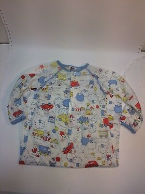 Vintage Carter's Baby Infant Long Sleeved Newborn Sleeper Gown Bunny Cars