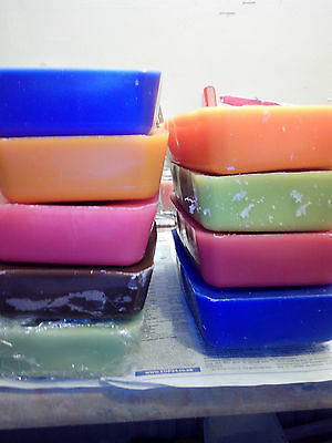 1.8kg ECO SOY coloured & scented Candle making wax To make own candles 5 blocks