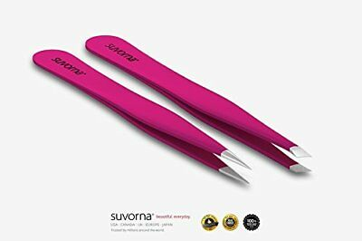 """Suvorna 4"""" Precision Aligned Professional Tweezers Color Sets with Premium One"""