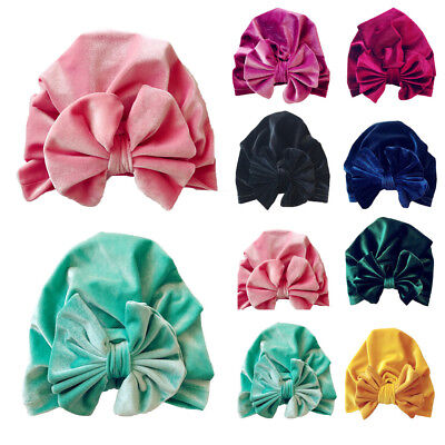 1Pc Newborn Toddler Kids Baby Boy Girl Bowknot Turban Beanie Hat Headwear Hats