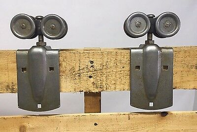 Pair of Pre-owned Barn Door Trolley-Rollers National Mfg. Co -Sterling, Illinois