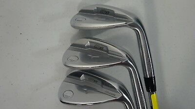 Mizuno Golf S18 White Satin 52*/56*/60* Dynamic Gold Steel Wedge Flex M/C Grip