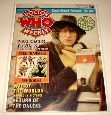 DOCTOR WHO Weekly MAGAZINE # 2  (Oct 1979)  VG   Tom Baker / K9 Cover