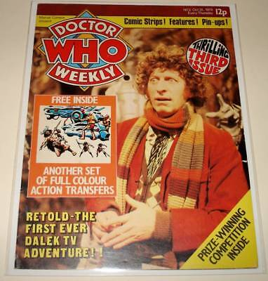 DOCTOR WHO Weekly MAGAZINE # 3  (Oct 1979)  FN   Tom Baker Cover