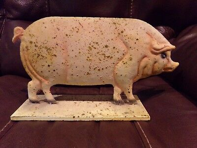 pink pig decorative item rustic design indoor outdoor collectible farm item moss