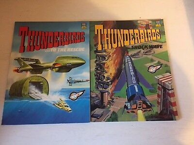 2 Thunderbirds 1991/92 Paperback Comic Albums: Shockwave & To The Rescue