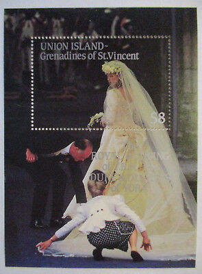 Union Iceland Grenadines of St.Vincent, Block Royal Wedding Mint (500)