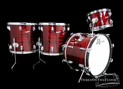 1972 Rogers Holiday Powertone Model Drum Kit : Red Onyx : 20 13 16 18