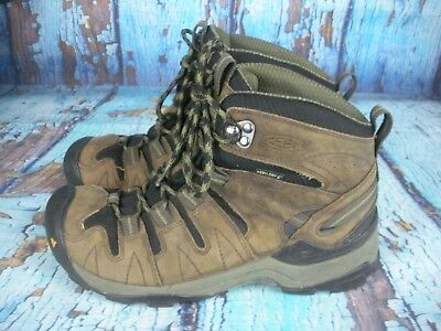 53eb9c4caa Keen Targhee Mid Brown Leather Hiking Trail Waterproof Boots Shoes Mens  Size 8.5