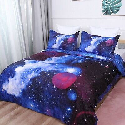 Galaxy Doona Duvet Quilt Cover Set Double/Queen/King All Size Bed Pillowcase New