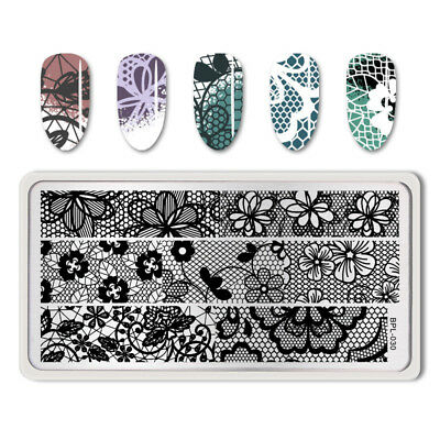Nail Art Stamping Plate Hollow Lace Image Stamp Template BP-L030 BORN PRETTY