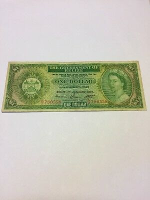 Belize 1 Dollar 1976 P-33c Circulated F-VF