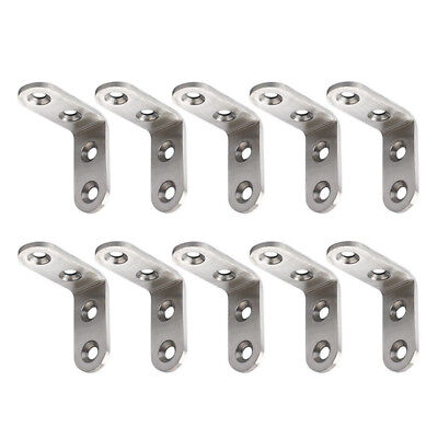 10X Stainless Steel Right Angle Bracket Corner Brace Joint Shelf Support L Shape