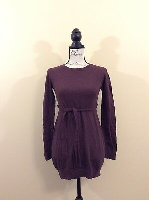 Liz Lange Maternity Sweater long sleeves tie around waist Size Small Crew Neck