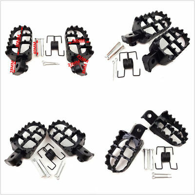 Motorcycle Wide Fat Foot Pegs Footrest Footpegs Pedal For Yamaha Honda Dirt Bike