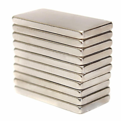 N52 Super Strong Rare Earth Rare Earth Neodymium Magnets10pcs 20x10x2mm
