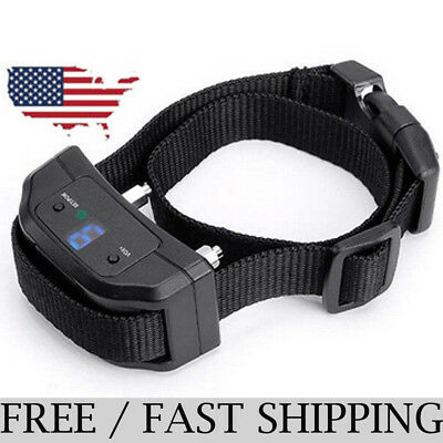 Dog Shock Collar Rechargeable Waterproof 660 yard with Remote Training Pets USA