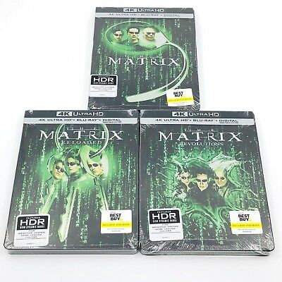 The Matrix Trilogy Best Buy Exclusive Blu-ray Steelbook 4K UHD + 2D + Digital