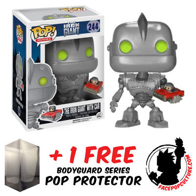 Funko Pop The Iron Giant With Car No 244 Vinyl Figure + Free Pop Protector