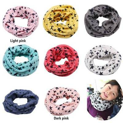 Kids Scarf Winter Soft Cotton Child Neck Cover Warmer Baby Snood Scarves Gifts