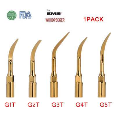 5pcs Dental Scaler Tip Scaling Gold Color fit EMS WOODPECKER Scaler Handpiece