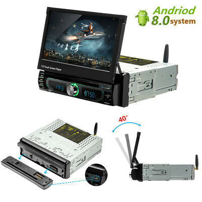 """1DIN 7"""" Touchscreen Auto Multimedia Player Android 8 GPS Stereo Bluetooth Radio"""