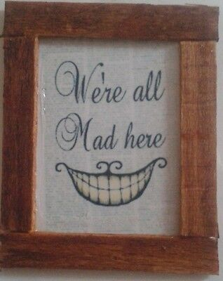 Dolls House  An alice in Wonderland Quote  Picture