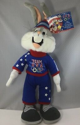 """Vtg 1998 Official U.S. Olympic Mascot Bugs Bunny Warner Brothers Team USA ~22"""""""