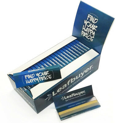 Le*af*buyer UNBLEACHED HEMP Rolling Papers 70*36mm 50 Booklets=2500 leaves