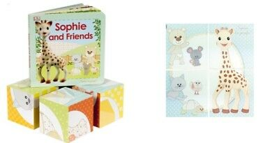 Baby Toddler Book And Blocks Sophie The Giraffe & Friends Beautiful Gift Set NEW