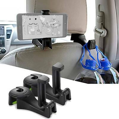 2in1 Multi-functional Car Headrest Hook with Phone Bracket Holder Seat Back Hook