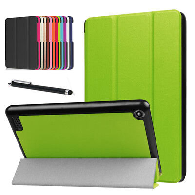 New Leather Smart Flip Case Stand Cover For Amazon Kindle fire 7 HD 8 HD 10 2017