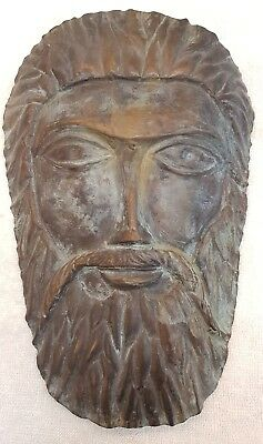 Antique Bronze Rare Greek Roman King Face Maersk Unique Old Piece  # R6i