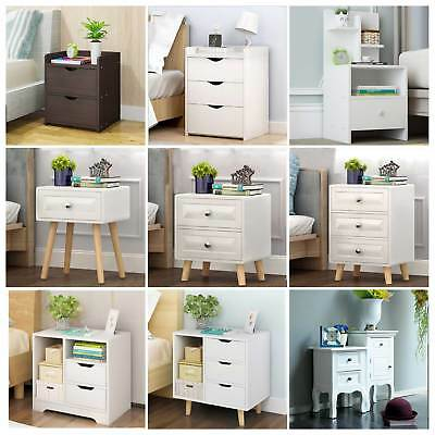 Bedside Table Nightstand Cabinets Storage Unit Side Table With Drawer/Shelf/Door