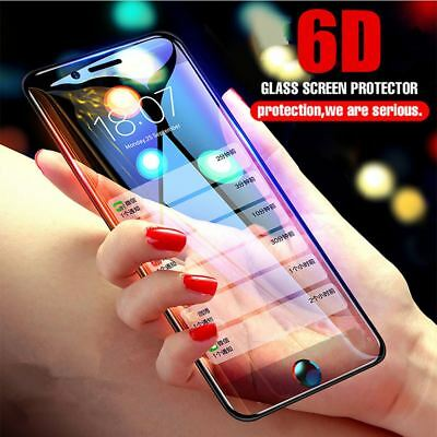 For iPhone X 2018 6D Curved Full Cover 100% Tempered Glass Screen Protector Film