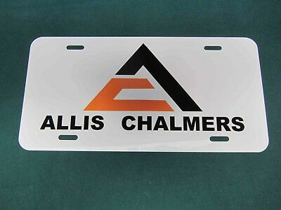 Allis Chalmers Triangle Logo License Plate