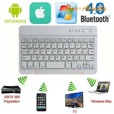 25c55c86ab5 Wireless Bluetooth Keyboard Ultra Aluminum For IOS Android Windows PC  Tablet Lot