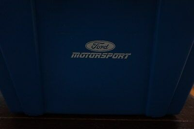 Vintage Ford Motorsports Plastic Crate Box