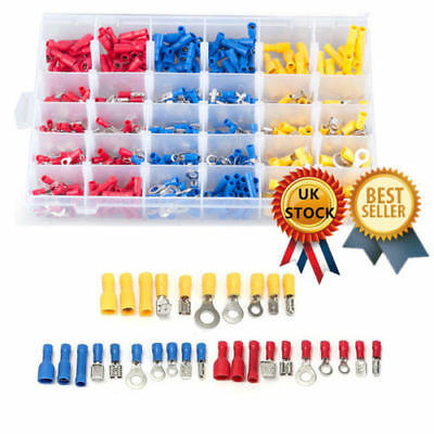 480 Assorted Insulated Electrical Wire Terminal Crimp Cable Butt Connector Spade