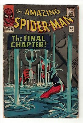 Marvel comics Amazing Spiderman 33  VG 4.0 1966 final chapter