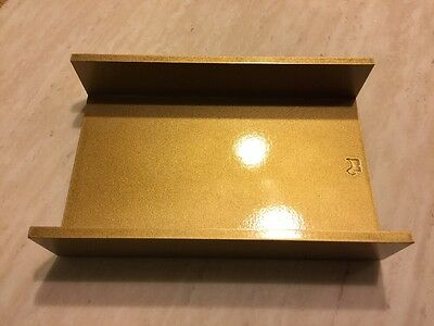 Mike & Ally Towel Holder Gold Lacquer NWT