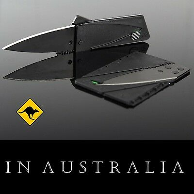 Credit Card Pocket Survival Tool Knife Priced to Sell Australian Stock Bellbird
