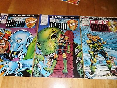Judge Dredd Comics (X3) Fleetway Quality