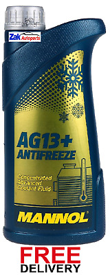 Mannol Advanced Antifreeze Concentrated Coolant Fluid Yellow 1 Litre *new*