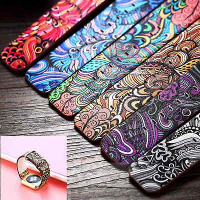 Premium Flower Pattern Leather Strap Band Bracelet For Apple Watch 40mm & 44mm